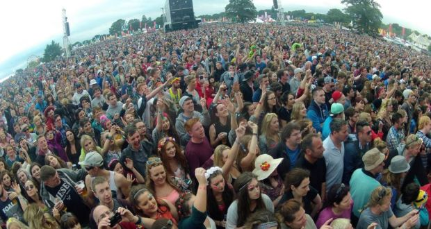 'Electric Picnic is now a bucolic frolic for those on the verge of middle age — which makes it a microcosm of austerity Ireland.' Above, the crowd at the main stage at Electric Picnic. Photograph: Dave Meehan