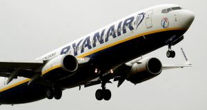 Ryanair climbed 3.16 % as markets continued to react positively to its launch of a business-class service. Photograph: Rui Vieira/PA Wire