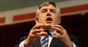 "Former British prime minister Gordon Brown: ""We are not being asked to decide if Scotland is a nation – it will still be a nation on September 19th."" Photograph: Reuters/Russell Cheyne"