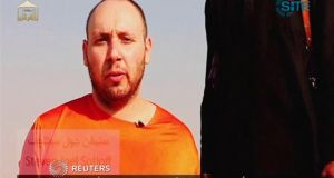 A video showing the beheading of US journalist Steven Sotloff released by the Islamic State. Photograph: Islamic State via Reuters TV/Reuters