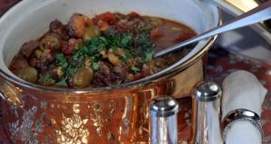 Thursday: Lamb and apricot tagine