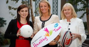 Ellen McMeel and Marese Damery from Irish Heart Foundation with Dervila Keane from Pfizer Healthcare Ireland at the launch of the Healthy Town 2014 in The Killeshin Hotel, Portlaoise. Photograph: Jeff Harvey/HR Photo Ellen McMeel and Marese Damery from Irish Heart Foundation with Dervila Keane from Pfizer Healthcare Ireland at the launch of the Healthy Town 2014 in The Killeshin Hotel, Portlaoise. Photograph: Jeff Harvey/HR Photo