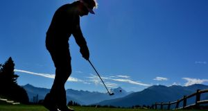 France's Victor Dubuisson plays a shot during yesterday's pro-am before today's start of the Omega European Masters at Crans-sur-Sierre. Photograph: Stuart Franklin/Getty Images