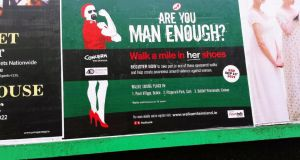 """Walk a Mile in Her Shoes"" asks men (and women) to put on high heels and walk a mile at one of three venues in Dublin, Cork and Galway in aid of Women's Aid and Concern."
