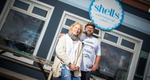 Jane and Myles Lamberth at Shells Cafe and Little Shop, Strandhill, Co Sligo. Photograph: James Connolly/Picsell8