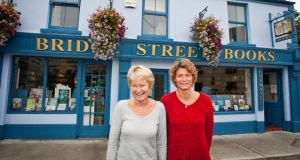Mother and Daughter book shop oqwners Hilary and Joanna Hamilton of Bridge Street Books in Wicklow. Photograph: Garry O'Neill