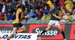 Jean de Villiers will win his 100th cap this weekend. Photograph: Reuters