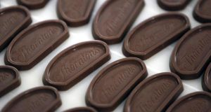 Thorntons, which sells its products in its own stores as well as through supermarkets, said like-for-like retail sales rose 1.1 percent during the full year from a 0.8 per cent decline a year ago. Photograph: Paul Thomas/Bloomberg