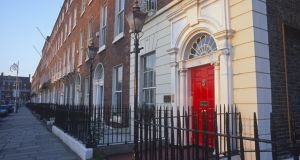 The doors and basements of Merrion Square, Dublin 2