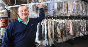 John Rusnak in one of his ZIPS Dry Cleaners franchises in Baltimore: I'd love to build a thousand of these stores and make a million dollars. photograph: baltimore sun