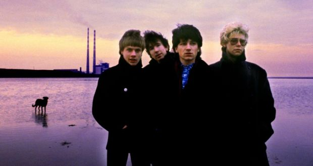 Beach sequence: U2 on Sandymount Strand in 1978. Photograph: Sheila Rock/Rex