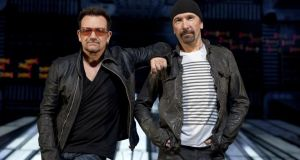 Dubliners: Bono and the Edge. Photograph: Richard Perry/New York Times