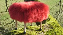 Sheepskin foot stool, €376, baastool.co.uk