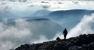Above the clouds near  the summit of Carrauntoohil, MacGillicuddy's Reeks, Co Kerry. Photograph: Mick Crowley/The Irish Times