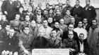 Frank Ryan shown with Spanish anti-fascists in Burgos death jail. Photograph: TG4