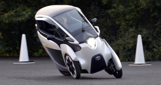 The Toyota I Road A Battery Ed Three Wheeled Covered