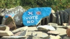 As campaigning and debate reached an unprecedented level across Scotland ahead of Thursday's independence referendum, supporters of the United Kingdom staying together were laying the final stones in a ceremonial mound. Video: Reuters