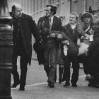 "History being rewritten ? .... Father Edward Daly runs down the street with an injured man on ""Bloody Sunday' January 30th, 1972. ""The young people who swarmed into the IRA in the aftermath of Bloody Sunday ... were behaving in a rational way and at considerable risk to themselves..."""