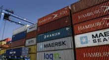 The seasonally adjusted trade surplus fell by 46 per cent in July, the figures show