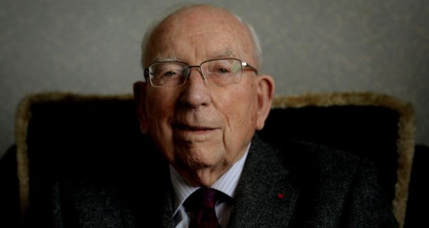 Financial architect: Ken Whitaker, photographed in March this year, at the age of 97. Photograph: David Sleator