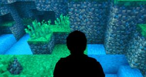 Engrossing: playing Minecraft at the Museum of the Moving Image in New York. Photograph: Karsten Moran/New York Times