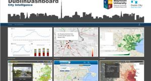 Dublin Dashboard 12 themes which connect to more than 1,000 maps and graphs. Photograph: dublindashboard.ie