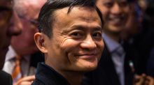 Alibaba  founder  Jack Ma attends the company's IPO at the New York Stock Exchange yesterday. Photograph: Andrew Burton/Getty Images