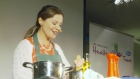Celebrity chef Catherine Fulvio shows how good food can be healthy food during a cookery demonstration in Portlaoise.