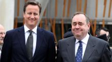 David Cameron has no hope of getting any credit while it's a win-win situation for Alex Salmond. Photograph: Andrew Milligan/Getty Images