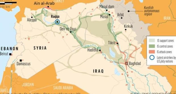 US And Allies Launch Airstrikes On Islamic State Targets In Syria - Allies us map