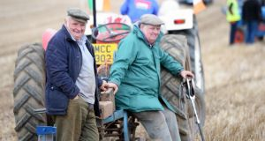 Griff and Garreth Jones from Wales at the Classic section at the National Ploughing Championships at Ratheniska, Co Laois. Photograph: Eric Luke