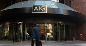 Global insurer AIG is expected to announce 20 new jobs for Ireland today. Photo: Bloomberg