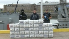The Irish Navy, Customs and Gardai have put on display the massive haul of cocaine seized last night off the southwest coast. Video: Provision