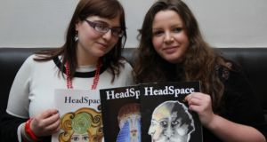 Naomi Elster (left) and Lisa Burke, current editors of 'HeadSpace' magazine.