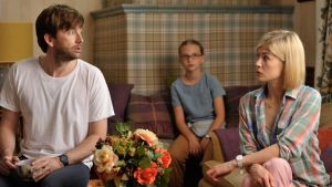 Rapidly dissolving: David Tennant and  Rosamund Pike in What We Did on Our Holidays