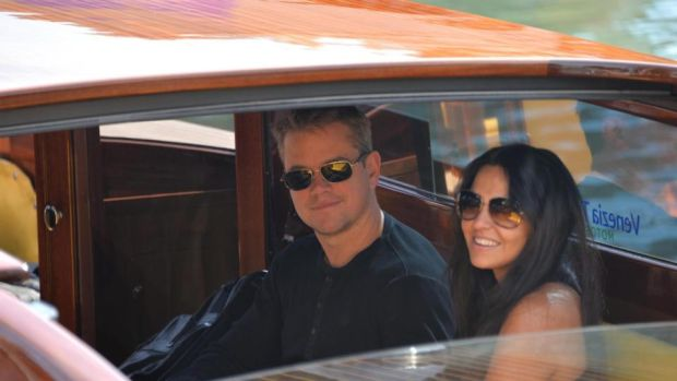 George Clooney and Amal Alamuddin in Venice for their wedding