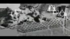 Footage taken by a surveillance plane showing an air strike by fighter aircraft in the US-led coalition against Islamic State militants.