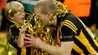 Henry Shefflin with his young son Henry after Kilkenny's final victory over Tipperary at Croke Park. The legendary Ballyhale man won a record tenth All-Ireland medal. Photograph: James Crombie/Inpho