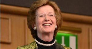 "Mary Robinson says it is ""incredibly important that Europe will be at the heart of a progressive alliance for a new climate agreement"" at the UN conference in Paris in 2015. Photograph: Dara Mac Dónaill / THE IRISH TIMES"