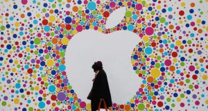 Apple will be accused of prospering from illegal tax deals with the Irish government for more than two decades when Brussels this week unveils details of a probe that could leave the iPhone maker with a record fine of as much as several billions of euros. Photograph: Simon Dawson/Bloomberg