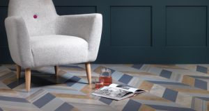 Shimmer Denim, Shimmer Metal, Patina Vapour, Patina Lune and Equator Wave from the Amtico Signature range and available through Amtico flooring specialists
