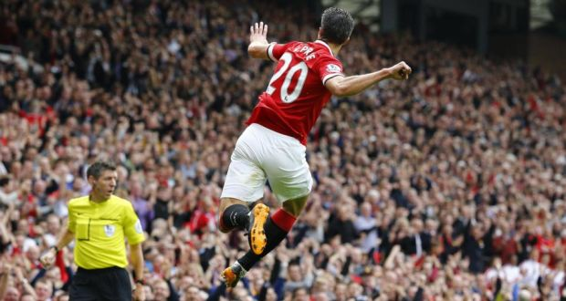 Robin van persie lauds uniteds attacking qualities manchester uniteds robin van persie celebrates after scoring a goal against west ham united he fandeluxe Document