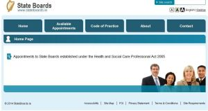 Brendan Howlin this morning said he had previously introduced the portal stateboards.ie (homepage pictured) which informs the public of vacancies and collates expressions of interest in those roles for the Minister.