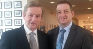 Taoiseach Enda Kenny with   John McNulty (right). Photograph: Donegal Daily