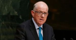 Minister for Foreign Affairs Charlie Flanagan said he would convey to the US vice president Joe Biden and secretary of state John Kerry in meetings today 'the deep sense of frustration on the part of the Irish community that expectations have been raised in the past and ultimately not realised'. Photograph: Shannon Stapleton/Reuters