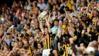 Kilkenny captain Lester Ryan lifts the Liam MacCarthy Cup after the All-Ireland hurling final replay win over Tipperary at Croke Park. Photograph:  Ryan Byrne/Inpho
