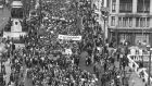 A tax protest march in the early 1980s. The debate still rages.