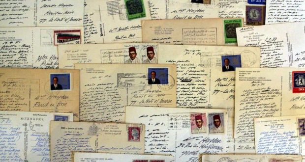 A collection of letters written by  Samuel Beckett. Photograph: Niall Carson/PA