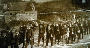 Volunteers training in Carlow 1920-1921. Photograph: Military Archive