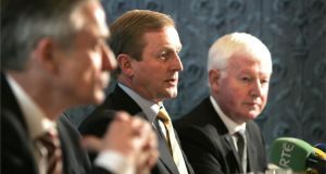 Much has been made over the past fortnight of the absence of Phil Hogan and Frank Flannery (right) from the side of the Taoiseach as Fine Gael blundered its way into the biggest crisis of Enda Kenny's leadership. File photograph: Dara Mac Dónaill/The Irish Times